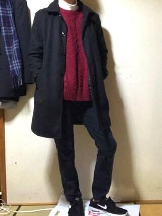 「WEGO/ケーブルクルーネックニット(WEGO)」 using this りゅう looks