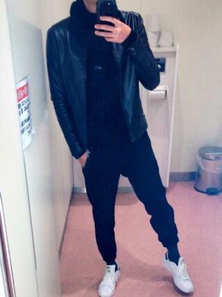 「MEN ジョガーパンツ(ウルトラストレッチ・レングス69~73cm)(ユニクロ)」 using this りゅう looks