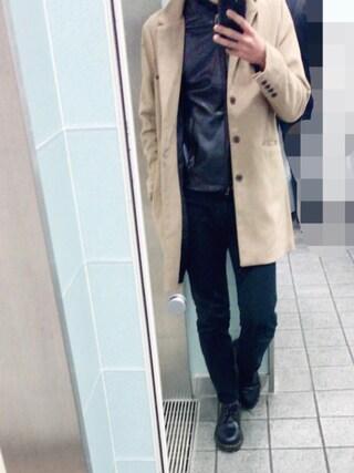 「CASPER JOHN ウールチェスターコート(CASPER JOHN)」 using this りゅう looks