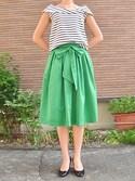 canaさんの「ギャザーフレアースカート(BLUEEAST|ブルーイースト)」を使ったコーディネート