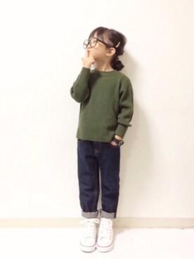 kannn さんのニット/セーター「ハイネックリブセーター (XS〜L)(BIG FIELD|ビッグフィールド)」を使ったコーディネート