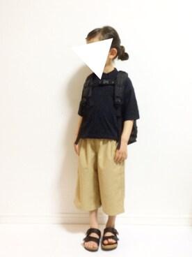 kannn さんのTシャツ/カットソー「BIGシルエットポケットTシャツ (80〜150cm)(MARKEY'S|マーキーズ)」を使ったコーディネート