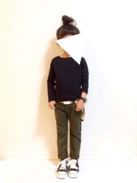 kannn さんのTシャツ/カットソー「パックT★クルーネック無地長袖Tシャツ(devirock|デビロック)」を使ったコーディネート