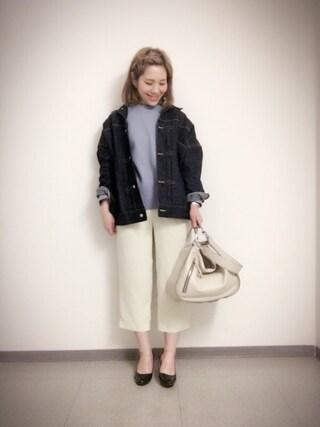 新宿フラッグスbijiness by SAZABY はやかわさんの「LNY-02/手提げ(SAZABY サザビー)」を使ったコーディネート