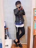 gakuさんの「シングルライダースジャケット(CIAOPANIC TYPY|チャオパニックティピー)」を使ったコーディネート
