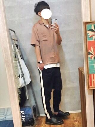 「【WEB限定】STUDIOUS フィブリルサテンオープンカラーシャツ 【先行予約】(STUDIOUS)」 using this gaku looks
