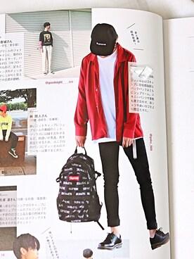 gakuさんの「オープンカラーシャツ(Lui's ルイス)」を使ったコーディネート