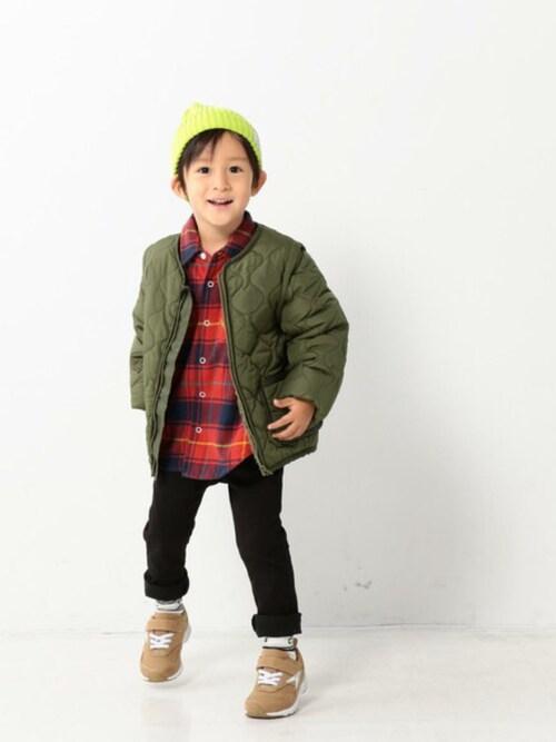 8a3bc91e9bee9 coen official kidsさんの「 coen キッズ   ジュニア 2WAYキルティングジャケット(100
