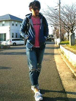 アキオさんの「BAYFLOW/【VANS(ヴァンズ)】AUTHENTIC 17SS(VANS|バンズ)」を使ったコーディネート
