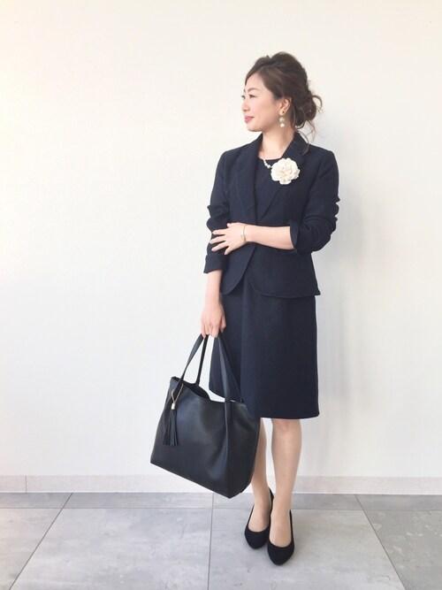 ワンピース×ジャケット │ママの入学式コーデ