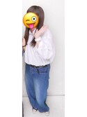 「エクストラファインコットンオーバーサイズロングシャツ(ストライプ・長袖)(ユニクロ)」 using this サ ヤ looks