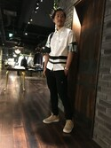 MITSUさんの「【Education from Youngmachines】MENS スケーターシャツ(Education from Youngmachines)」を使ったコーディネート
