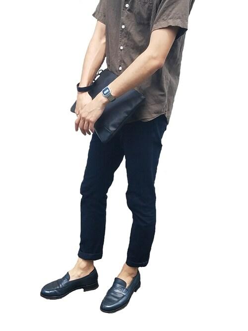 Rnewさんの「【Jalan Sriwijaya】コインローファー(JALAN SRIWIJAYA)」を使ったコーディネート