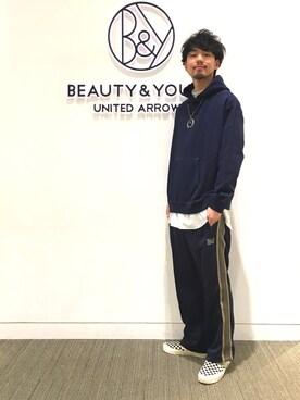 ビューティ&ユース ユナイテッドアローズ 富士見店 Daisuke Kuoriさんの(Needles ニードルス)を使ったコーディネート