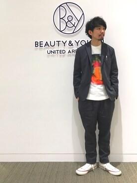 BEAUTY&YOUTH UNITED ARROWS|Daisuke Kuoriさんの(FLAGSTUFF|フラッグスタッフ)を使ったコーディネート