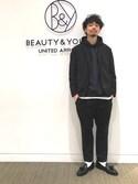 Daisuke Kuoriさんの「BY ナイロン ウォッシュド 2B ジャケット(BEAUTY&YOUTH UNITED ARROWS|ビューティアンドユースユナイテッドアローズ)」を使ったコーディネート