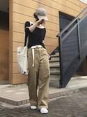 Atsukoさんの「LOGOショルダーバッグ(TODAYFUL|トゥデイフル)」を使ったコーディネート