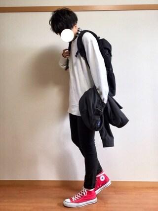 daiさんの「(GU)ネルチェックシャツ(ブロック・長袖)A1(GU ジーユー)」を使ったコーディネート