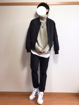 daiさんの「MA-1 起毛スキン 薄中綿入り  MA1 ジャケット(ARCADE|アーケード)」を使ったコーディネート