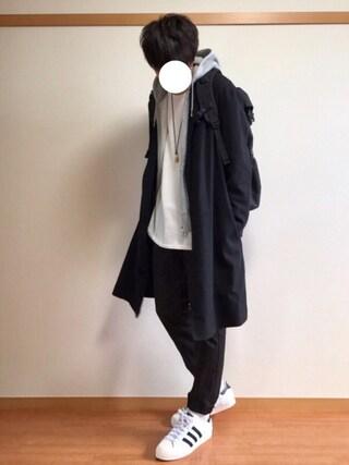 daiさんの「ウールワッシャーベルテッドコート(ABAHOUSE|アバハウス)」を使ったコーディネート
