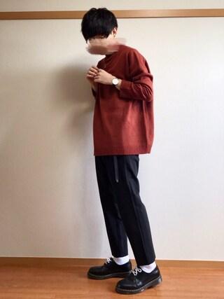 daiさんの「WEGO/ラウンドタイプメガネ(WEGO|ウィゴー)」を使ったコーディネート
