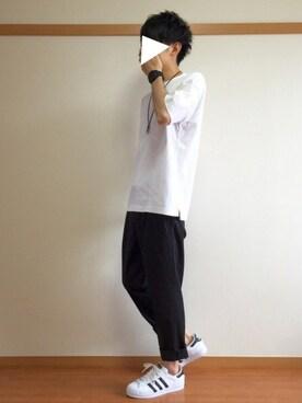 「《メルマガ掲載》adidas アディダス SUPERSTAR スーパースター C77124 15SS WHT/CBK/WHT(adidas)」 using this dai looks