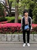 ヤシマさんの「ADIDAS アディダス STAN SMITH CF  スタンスミスCF S75188 RWHT/RWHT/GO(adidas|アディダス)」を使ったコーディネート