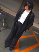 meguさんの「WOMEN デニムシャツ(長袖)(ユニクロ|ユニクロ)」を使ったコーディネート