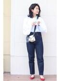 Natsumiさんの「JW OW Tapered(MOUSSY ザラ)」を使ったコーディネート