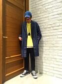 稲田拓也さんの「【USAコットン使用】<抗菌防臭>裏毛スウェットドロップクルー7分袖/751484(RAGEBLUE|レイジブルー)」を使ったコーディネート
