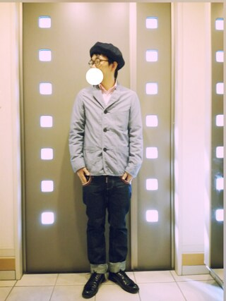 「【WEB限定】 ★★LEATHER 5EYE P-TOE シューズ(green label relaxing)」 using this kaki looks