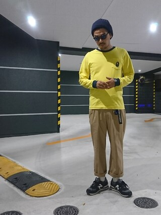 にいるさんの「TAPE LINE BELT(uniform experiment|ユニフォームエクスペリメント)」を使ったコーディネート