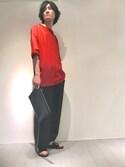 r.kobata1204さんの「7分袖 BIGTシャツ(Lui's|ルイス)」を使ったコーディネート