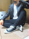 マーシーさんの「【S~XL展開】【2枚組】ジャパンフィット クルーネックTシャツ JapanFit/ヘインズ/HANES/フラッシュリポート/FLASHREPORT(HANES|ヘインズ)」を使ったコーディネート