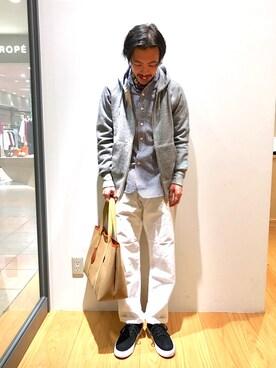 Bshop 博多店|naoyakatoさんのパーカー「【ORCIVAL オーシバル】フルジップスウェットパーカー MNS(ORCIVAL|オーシバル)」を使ったコーディネート