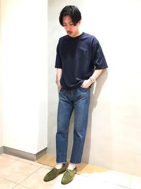 Bshop 札幌ステラプレイス店|naoyakatoさんの「半袖クルーネックニット MEN(ROBERTO COLLINA)」を使ったコーディネート