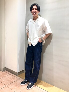 Bshop 天神ソラリアプラザ店|naoyakatoさんのシャツ/ブラウス「オープンカラーシャツ MEN(AURALEE|オーラリー)」を使ったコーディネート