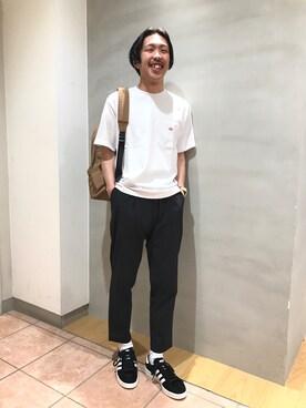 Bshop 札幌ステラプレイス店|naoyakatoさんの「ポケットTシャツ SO  MEN(Danton)」を使ったコーディネート