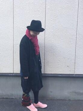 override 横浜赤レンガ|k t kさんの(靴下屋|クツシタヤ)を使ったコーディネート
