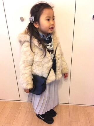 「デニムワークシャツ (Kids-80~120cm)(MARKEY'S)」 using this candy&cemara looks