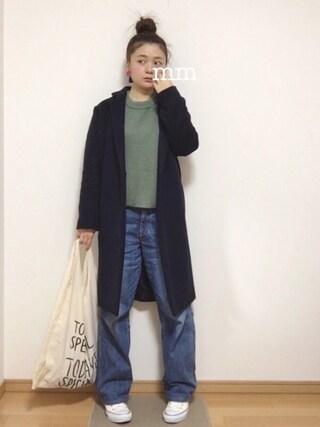 maimaiさんの「Sonny Label 1ボタン チェスターコート(URBAN RESEARCH Sonny Label|アーバンリサーチサニーレーベル)」を使ったコーディネート