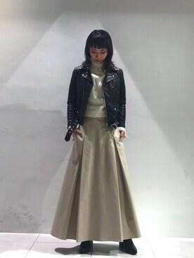 MIDWEST TOKYO WOMEN|arimskさんの「■別注■beautiful people×MIDWEST ライダースジャケット(beautiful people)」を使ったコーディネート