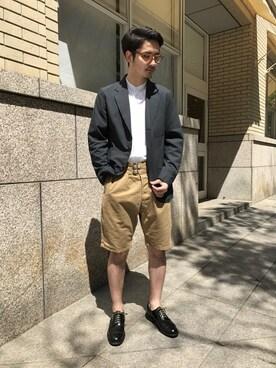 Bshop 天神ソラリアプラザ店|minamiさんのテーラードジャケット「3Bシャツジャケット PVS MEN(Morris & Sons|モリスアンドサンズ)」を使ったコーディネート