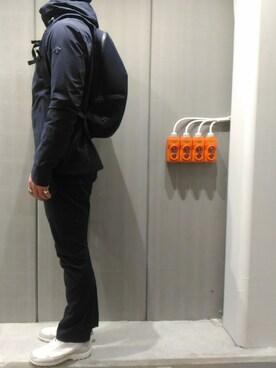 DESCENTE BLANC DAIKANYAMA|9★6さんのナイロンジャケット「パラヘムシェルジャケット / PARAHEM SHELL JACKET(DESCENTE ALLTERRAIN|デサント オルテライン)」を使ったコーディネート