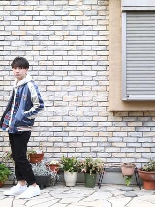「Eagle Souvenir Jacket 刺繍入り スーベニアジャケット(ALDIES)」 using this すっずー looks