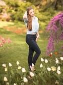 「Paige Denim Hoxton Ankle Peg(Paige Denim)」 using this Polishedpiggy looks