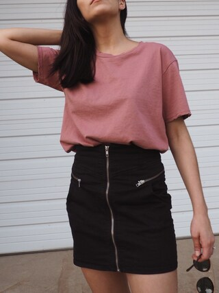 「Topshop Nibbled t-shirt(Topshop)」 using this Jessica Hoxworth looks