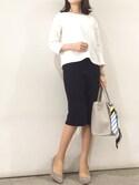 kyoooco♡さんの「【BAILA3月号掲載】 6cmヒールポインテッドトゥパンプス(titivate|ティティベイト)」を使ったコーディネート