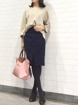kyoooco♡さんの「フロントスリットポケット付きタイトスカート(titivate)」を使ったコーディネート