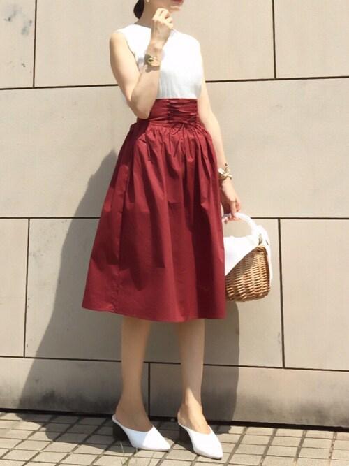 kyoooco♡さんの「WOMEN UVカットワイドリブノースリーブセーター(ユニクロ)」を使ったコーディネート